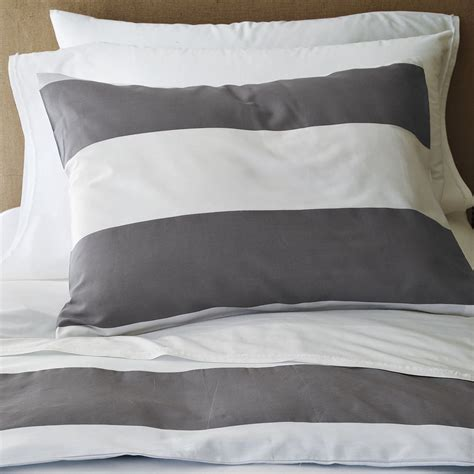 Grey Stripe Duvet Cover shopping