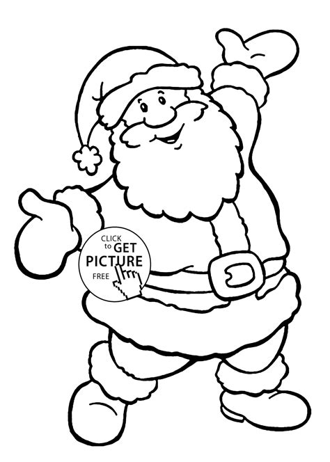 free santa coloring pages to print az coloring pages