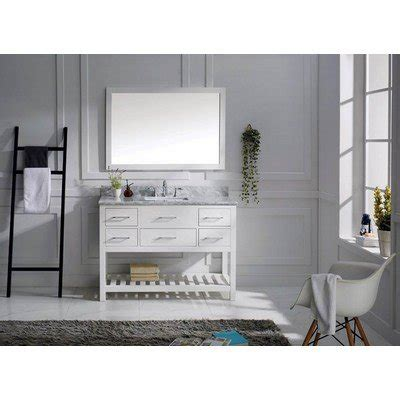 virtu 48 inch single sink white bathroom vanity set virtu usa ms 2248 wmsq wh transitional 48 inch single sink