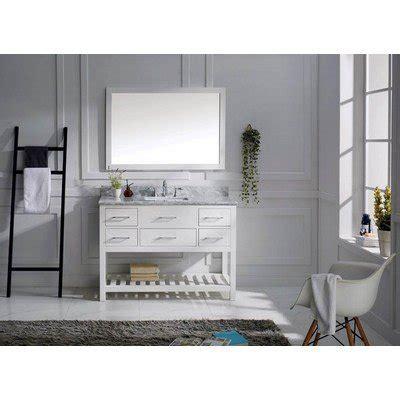 virtu usa ms 2248 wmsq wh transitional 48 inch single sink