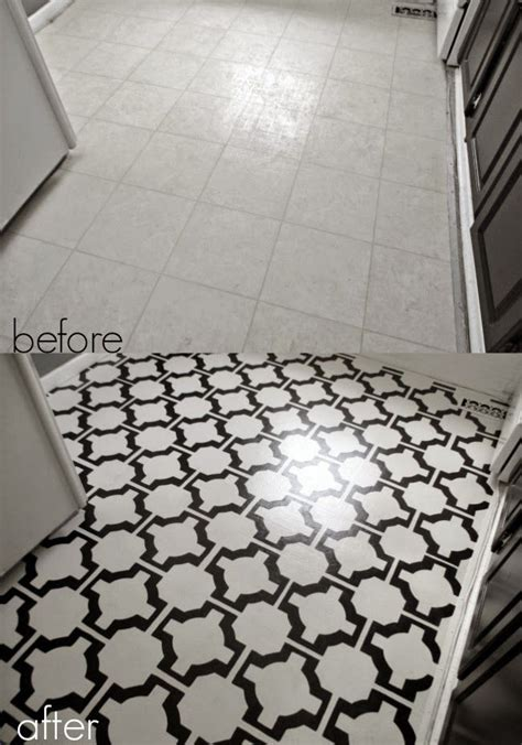 diy painted vinyl floors    project ideas