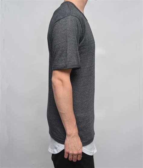 Kaos Hoodie Longline Onstreet Limited Edition layered charcoal only medium left plus 2 clothing