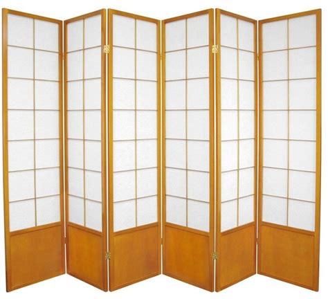 Zen Room Divider 6 Ft Zen Shoji Screen Honey 6 Panels Asian Screens And Room Dividers By