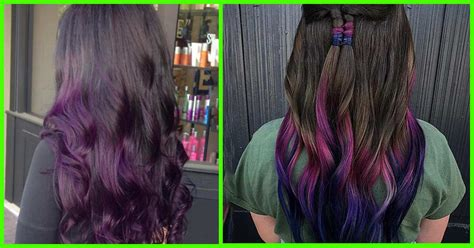 20 purple ombre hair color ideas thick hairstyles ombre hair color black to purple hairsstyles co