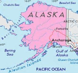 map of alaska in the united states