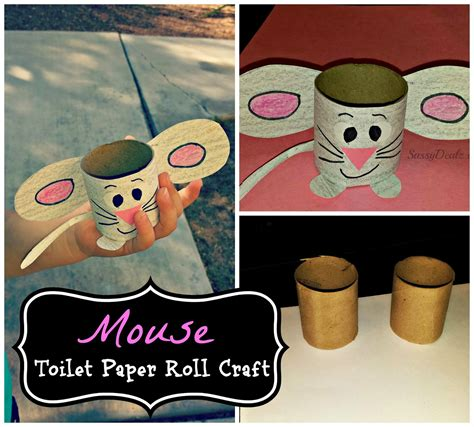 Easy Crafts Using Toilet Paper Rolls - easy mouse toilet paper roll craft for crafty morning