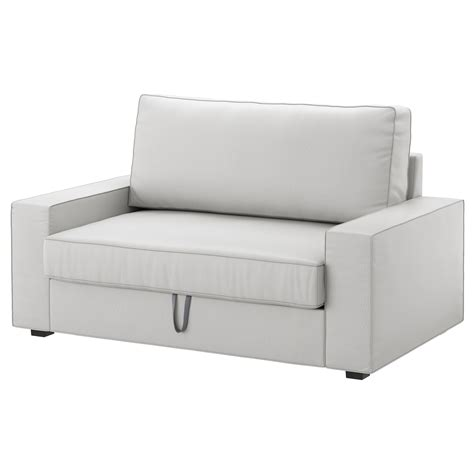 Vilasund Two Seat Sofa Bed Ramna Light Grey Ikea Sofa Bed Seat
