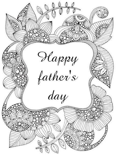 hard coloring pages for mother s day adult coloring page happy father s day adult colouring