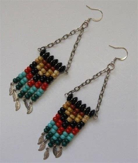 how to make beaded fringe earrings chevron fringe earrings 183 how to make a pair of beaded
