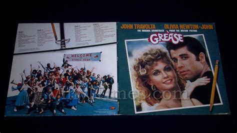 Beat Pop Cover Inner Original soundtrack quot grease quot vinyl lp vinyltimesvinyltimes