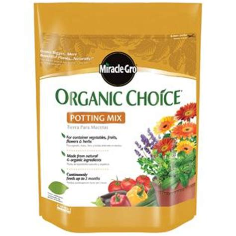 Pro Mix Soil Home Depot by Miracle Grow 72978510 Organic Choice 174 Potting Mix 8 Qt