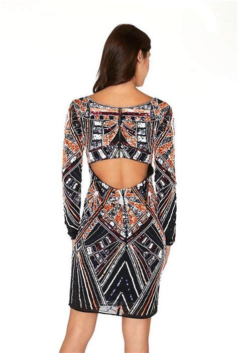 Embellished Sleeve Dress black fully embellished sleeve dress modishonline