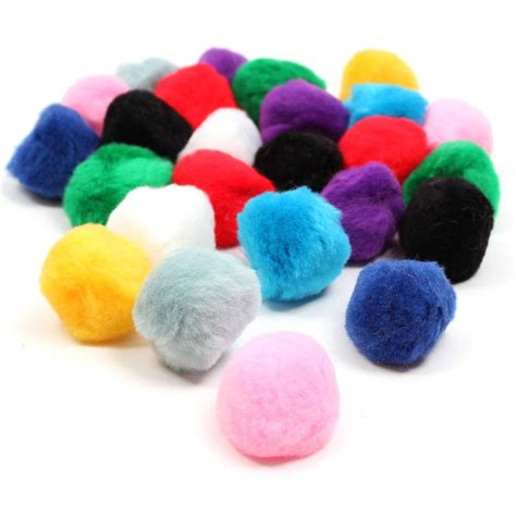 Free Pompom by Assorted Pom Poms 5 Cm 25 Pack Hobbycraft