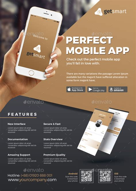 Mobile App Flyer By Themedevisers Graphicriver App Promo Template