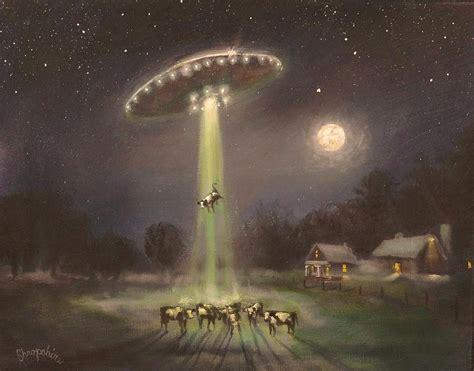 alien abduction l ufo alien abduction painting by tom shropshire