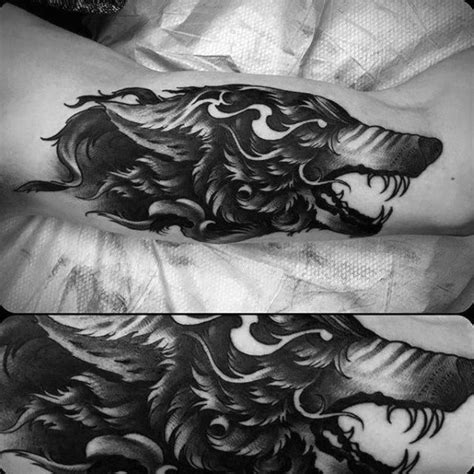 sick wolf tattoo 60 sick wolf designs for manly ink ideas