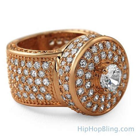 Bling Bling Rosegold gold bling bling cluster ring bling bling