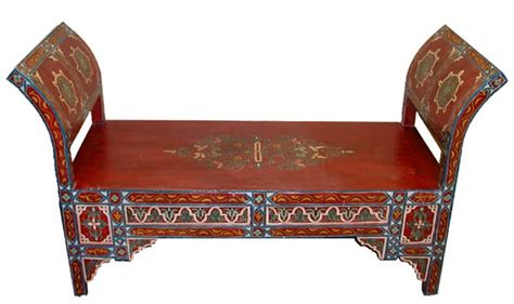 moroccan benches hand painted moroccan bench for the home pinterest