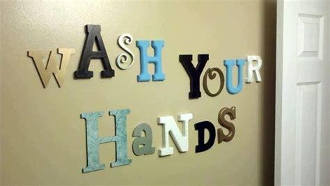 Bathroom Wall Letters Diy Wall Letters Crafts Diy Bathroom Wall Wash