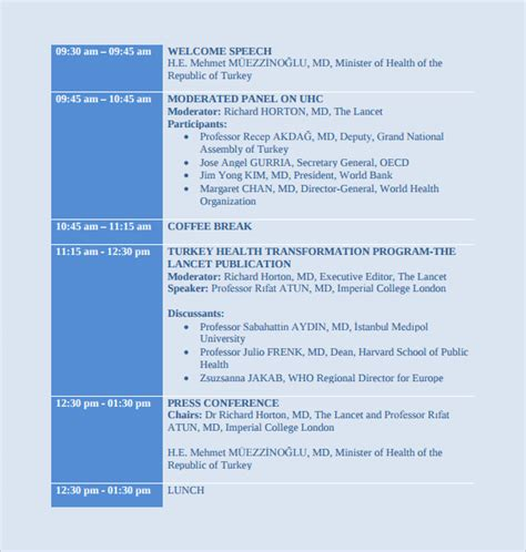 programme template for conference sle conference schedule 16 documents in pdf word