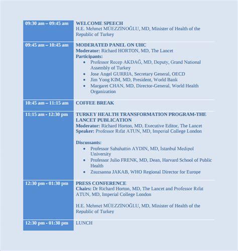 conference schedule template calendar template 2016