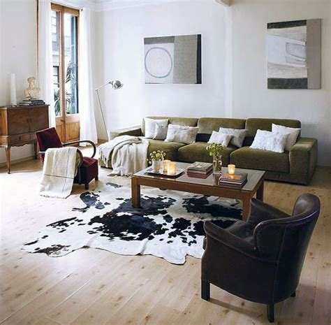 Decorating Unique Cow Hide Rug For Inspiring Interior Decorative Rugs For Living Room