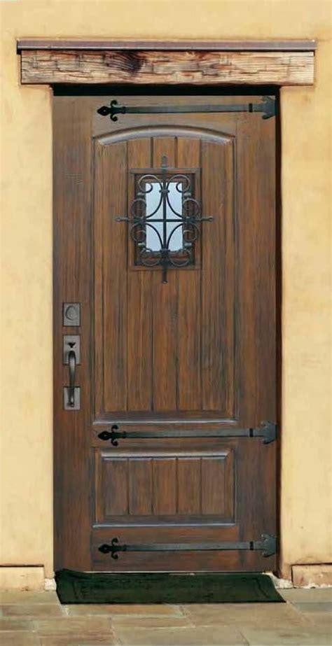 Speakeasy Front Door Rustic Fiberglass Door With Speakeasy Straps V Grooved Plank Panel Many Authentic Wood Finis