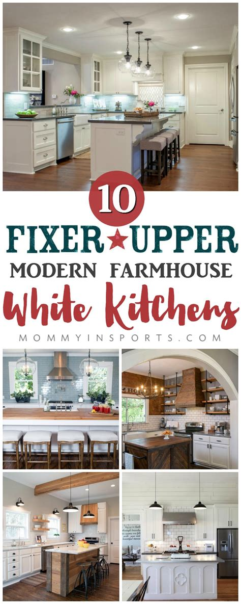 Kitchen Ideas Hgtv 10 Fixer Upper Modern Farmhouse White Kitchen Ideas