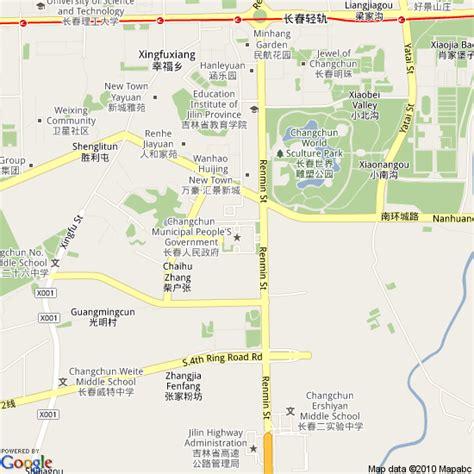 changchun map map of changchun china hotels accommodation