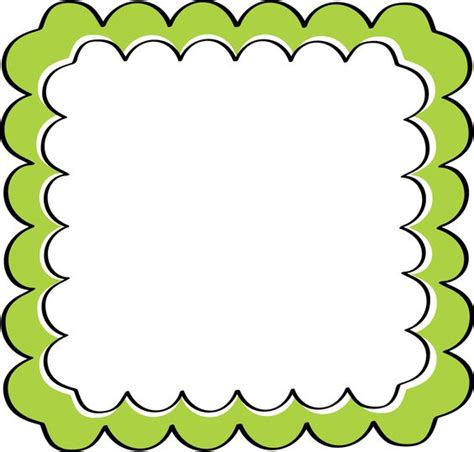 frame clipart school theme border clipart green scalloped frame free