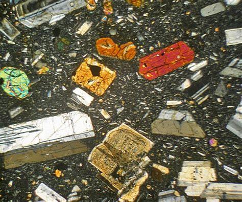 andesite thin section hypersthene andesite from costa rica thin section