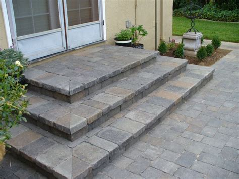 Paver Patio Steps 693 Best Images About Outdoors On Outdoor Living Water Features And Porches