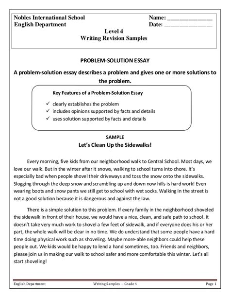 problem solution essay sle problem solution essay sle 28 images pay college
