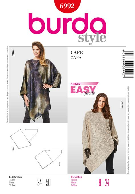 sewing pattern review best of 2013 burda 6992 cape