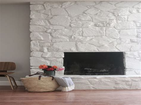 Modern rustic bathroom, can you paint stone fireplace