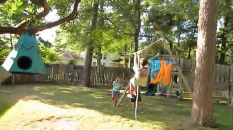 backyard obstacle course ideas warrior zip line backyard obstacle
