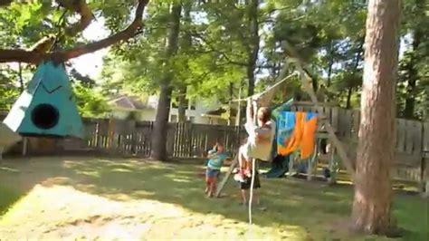 obstacle course in backyard ninja warrior kids zip line kids backyard obstacle