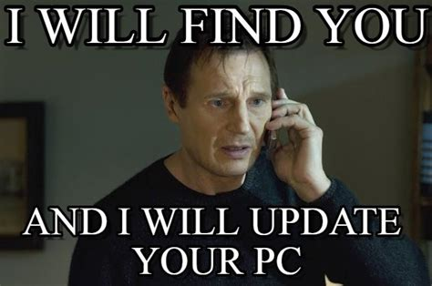 Meme Update - microsoft says windows 10 users might receive critical
