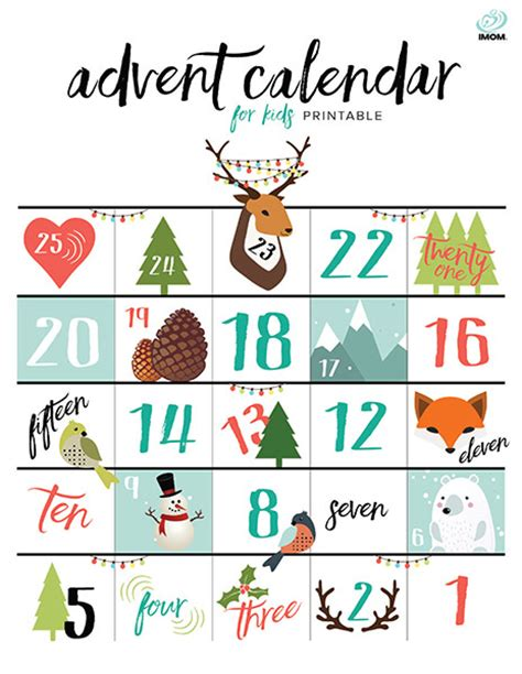 2015 advent calendar printable template printable free 2015 advent calendars for kids calendar