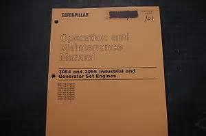cat caterpillar 3054 3056 engine operation operator
