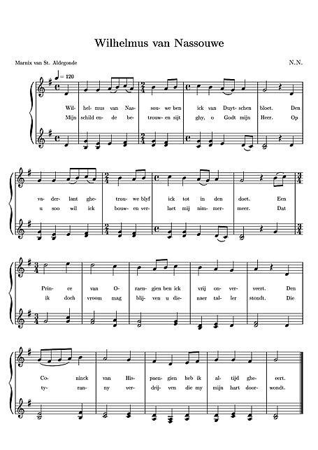 Kaos Note Note 29 Bv wilhelmus nassouwe het wilhelmus r 246 st piano