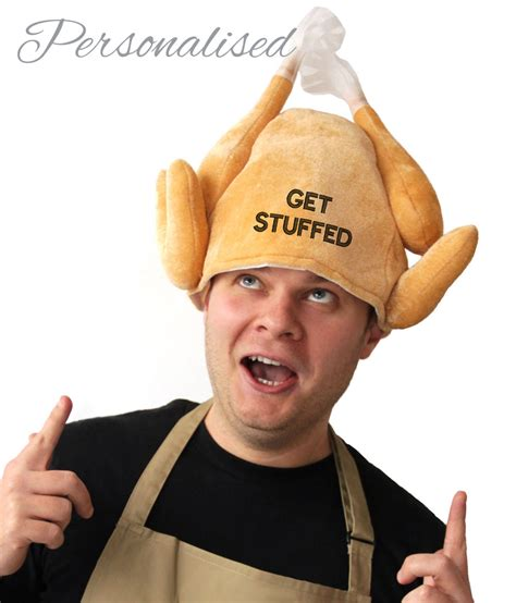 Pastel Kitchen Accessories - personalised christmas turkey hat withcongratulations