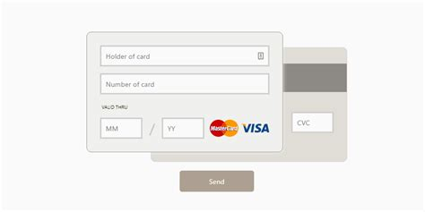 Credit Card Form Template Css Web Design Inspiration Css Snippets Codemyui