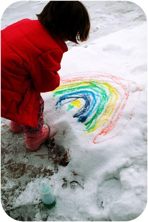 spray painting in winter outdoor winter activities