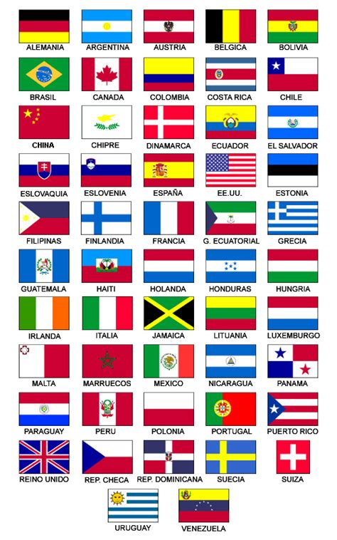 dibujos de banderas del mundo para imprimir imagenes de banderas de paises