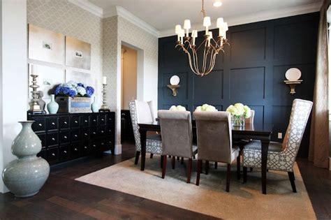accent wall dining room commanding a presence accent walls that make a statement