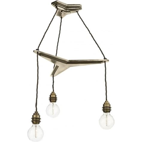 Propellor Cluster Ceiling Light With 3 Bronze Hanging Pendants Cluster Ceiling Lights