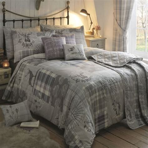 Tatton Patchwork Superior Duvet Cover And Pillowcase Set Dreams Drapes Quot Tatton Patchwork Quot Stag Print Cushion In