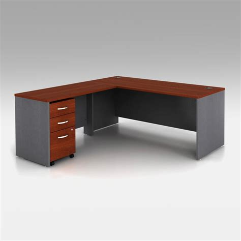L Shaped Desk With Filing Cabinet by Bush Series C L Shaped Desk With Filing Cabinet Desks At Hayneedle