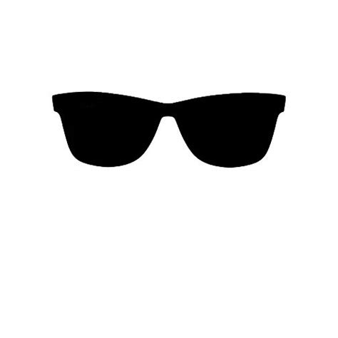 glass svg sunglasses clipart silhouette pencil and in color